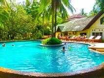 Railay, Krabi, Thailand - February 02, 2010: The Sand Sea Resort at tropical Thailand island Royalty Free Stock Photography