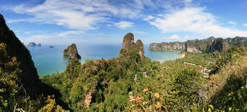 Railay peninsula panorama Royalty Free Stock Image