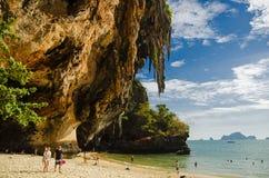 Railay Phra Nang Strand Stockbilder