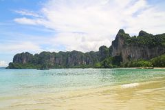 Railay plaża Krabi, Tajlandia - Obrazy Royalty Free