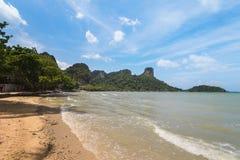 Railay Rai Leh东部海滩,甲米府,泰国 免版税库存照片