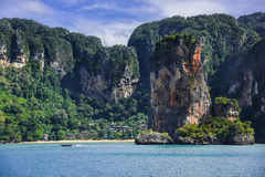 railay strand Royaltyfri Fotografi