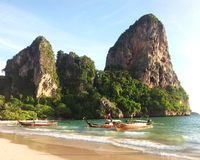 railay strand Arkivbilder