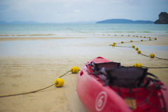 Railay-Strand am Feiertag Stockfotografie