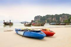 Railay strand i Krabi Thailand Fotografering för Bildbyråer