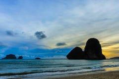 Railay strand i Krabi Thailand askfat arkivfoto
