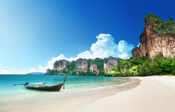 Railay Strand in Krabi Thailand stockbilder