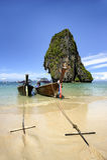 Railay strand Krabi Thailand Royaltyfri Bild