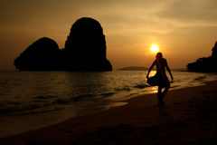 Railay sunset Royalty Free Stock Photography