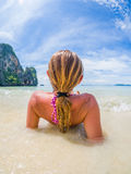 The railay tropical beach thailand Royalty Free Stock Photo