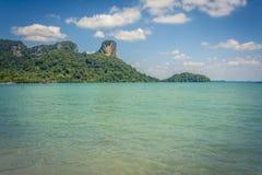 Railay wyrzucać na brzeg, Andaman morze w Krabi, Tajlandia Zdjęcia Royalty Free
