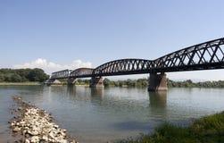 Railbridge royalty free stock photography