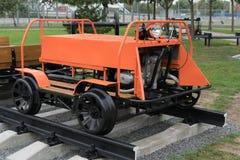 Railcar i det frilufts- museet royaltyfri foto