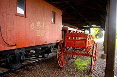 RailCar und Gepäck-Wagen Lizenzfreie Stockbilder
