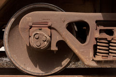 Railcar wheel Stock Images