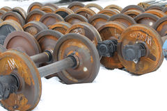 Railcar wheels Royalty Free Stock Photo