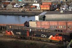 Railcars da NC Fotografia de Stock