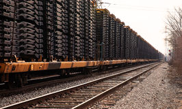 Railcars Detroit. Automotive railroad cars in Detroit area yards Royalty Free Stock Images