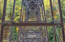 Raildroad Trestle At Letchworth State Park Royalty Free Stock Photo