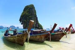 Railey海滩, Krabi,泰国 库存图片