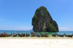 Railey海滩, Krabi,泰国 库存照片