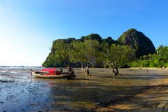 Railey, Krabi泰国海 免版税库存图片