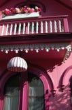 railing дома розовый Стоковое фото RF