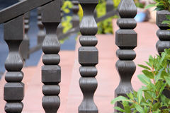 Railing. / Beautiful carved wooden stock illustration