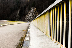 Railing on a bridge. In the mountain Stock Photography