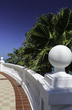Railing in Cancun Royalty Free Stock Images