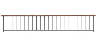 Railing consisting of supports and  horizontal bar Stock Photo
