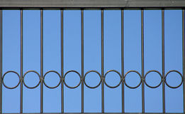 Railing design. Design and patten on wrought iron railing Stock Photos