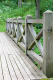 Railing and fence of wooden bridge Royalty Free Stock Photo