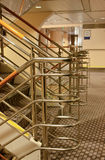 Railing on the ferry. Railing on the stairs of a large ferry Royalty Free Stock Images
