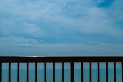 Railing and freedom Royalty Free Stock Photography