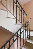 Railing internal stairs in a building Royalty Free Stock Images