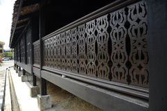 Railing of Masjid Kampung Laut at Nilam Puri Kelantan, Malaysia Stock Images