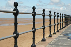 Railing perspective. Seaside railing perspective in landscape Royalty Free Stock Photo