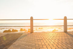 Railing on a promenade Royalty Free Stock Photography