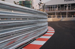 Railing of a race track Stock Photos