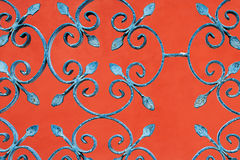 Railing on red background Royalty Free Stock Photography