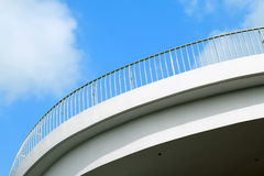Railing on rooftop Royalty Free Stock Image