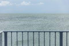 Railing on the sea Stock Image
