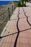 Railing shadows Stock Image