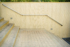 Railing of stair walkway and outdoor Royalty Free Stock Photography