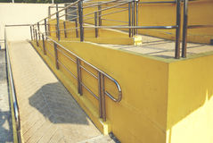 Railing of stair walkway and outdoor Stock Images