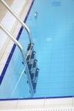 Railing at swimming pool Stock Image