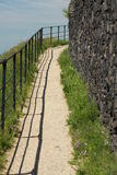 Railing by the wall Stock Photography