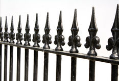 Railings. On a white background Royalty Free Stock Images