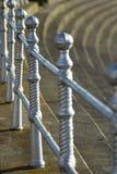 Railings on Blackpool promenade Royalty Free Stock Photos